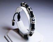 Handmade Swarovski Black Thread Bracelet