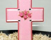 Handmade Pink Wooden Cross