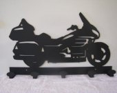 Motorcycle Coat Rack Metal Wall Art Silhouette