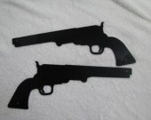 Pistol Metal Wall Art Western Silhouette Set of (2)