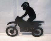 Motorcycle/Rider 007 Wall Art Metal Silhouette
