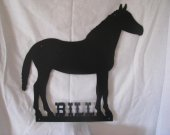 Horse Silhouette Metal Farm Wall Art with Name