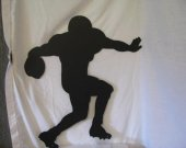 Football Player 001 Metal Wall Art Silhouette Sports