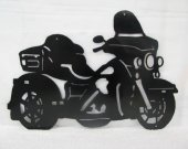 Motorcycle 010 Silhouette Metal Wall Art