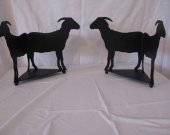 Goat 1 Candle Reflector Metal Farm Wall Art Silhouette Set of (2)