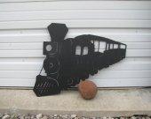 Train 012 Metal Wall Art Silhouette