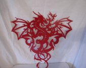 Dragon 2L Metal Wall Art Silhouette Red