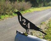 Juvenile Raven Crow Mailbox Topper Metal Wildlife Art Silhouette