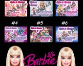 Barbie Personalized Custom 4x6 Photo Birthday Party Invitations