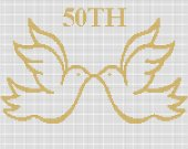50TH Anniversary Doves Crochet Pattern Graph E-MAILED.PDF #339