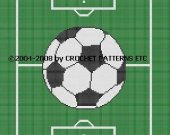 Soccer Field Crochet Pattern Afghan Graph E-mailed.PDF #091