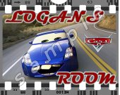 Cars Laminated 8 x 10 Room Sign