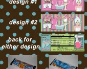 Spa Party Exclusive Series Set of 12 Personalized Candy Bar Wrappers Party Favors