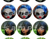 Monster High Set of 12 2.5 Inch Round Personalized Stickers or Cupcake Toppers
