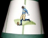 Football Lamp Nightlight made with Pottery Barn Kids Fabric
