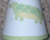 Alphabet Soup Alligator Lamp Nightlight made w Pottery Barn Kids