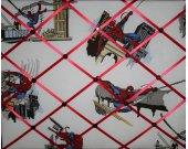 Spiderman French Message Memo Board mw Pottery Barn Kids superhero fabric