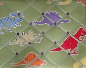 Dinosaur Little Dino Boys French Message Board Green Red Blue Orange