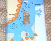 Lambs and Ivy Lil Dino handmade Switchplate