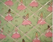 Princess Girls Fairy Pink and Green French Message Board