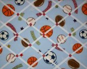 French Message Memo Board made w Target DYR Athletic Sports Fabric