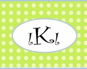 Custom Monogrammed Polka Dot Tag Luggage Diaper Bag Kids Baby CUSTOM Back to School