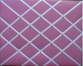 Raspberry Dark Pink Gingham French Message Board