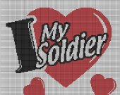I Love My Soldier Heart Crochet Pattern Afghan Graph E-mailed.Pdf #349