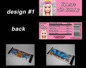 Barbie Set of 12 Personalized Candy Bar Wrappers Party Favors