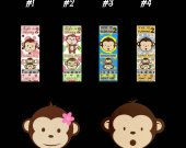 Mod Monkey Ticket Style Personalized Party Invitations