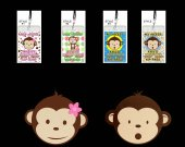 Mod Monkey Set of 12 VIP Party Invitation Passes or Party Favors