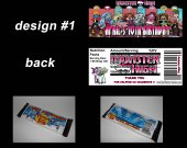 Monster High Set of 12 Personalized Candy Bar Wrappers Party Favors
