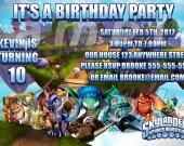 Skylanders Personalized 4x6 Birthday Party Invitations