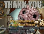 Little Big Planet  Personalized Thank You Cards