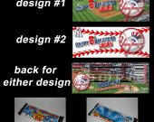 New York Yankees Set of 12 Personalized Candy Bar Wrappers Party Favors