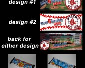 Boston Red Sox Set of 12 Personalized Candy Bar Wrappers Party Favors
