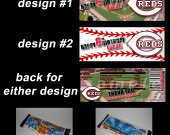 Cincinnati Reds Set of 12 Personalized Candy Bar Wrappers Party Favors