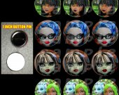 Monster High Set of 12 1-inch Buttons - Make Great Party Favors