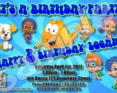 Bubble Guppies Personalized 4x6 Birthday Party Invitations