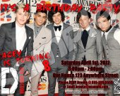 One Direction Musical Group 4x6 Personalized Birthday Party Invitation