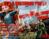 Brave 4x6 Personalized Birthday Party Invitations
