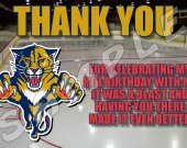Florida Panthers Personalized Thank You Cards