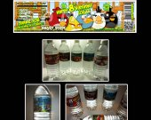 Angry Birds Set of 15 Water Bottle Labels - Make Great Party Favors