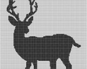 Deer Silhouette Crochet Pattern Afghan Graph E-mailed.pdf #111
