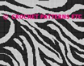 Zebra Stripes Crochet PAttern Afghan Graph #099
