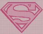 Supergirl Logo Pink Crochet Pattern Afghan Graph E-mailed.pdf #5087
