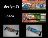 Denver Broncos Set of 12 Personalized Candy Bar Wrappers Party Favors