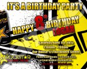 ROCKSTAR Energy 4x6 Personalized Birthday Party Invitations