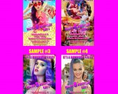 Katy Perry Part of Me 4x6 Personalized Birthday Party Invitations
