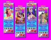 Katy Perry Part of Me Ticket Style Personalized Party Invitations